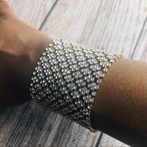Bebe Diamond Cuff Bracelet Plated in Gold